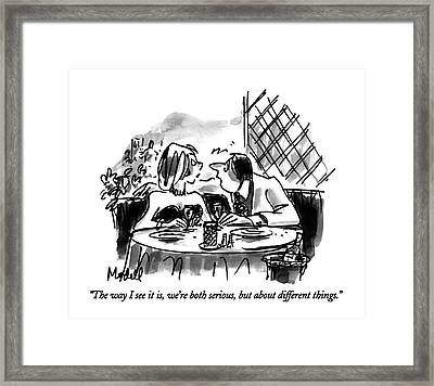 The Way I See Framed Print by Frank Modell