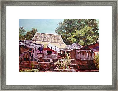 Framed Print featuring the painting The Way It Was by Belinda Low