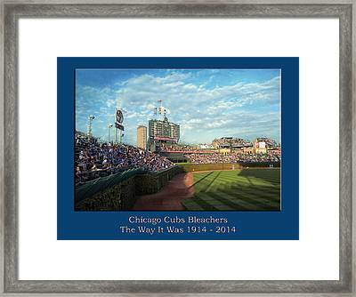 The Way It Was  Chicago Cubs Bleachers Textured Framed Print by Thomas Woolworth