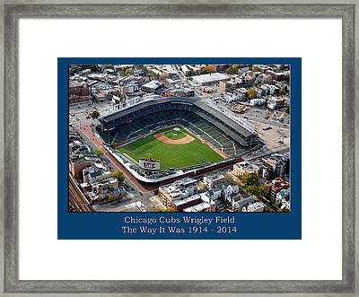 The Way It Was Chicago Cubs Wrigley Field 01 Framed Print by Thomas Woolworth