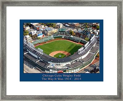 The Way It Was Chicago Cubs Wrigley Field 02 Framed Print by Thomas Woolworth
