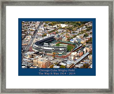 The Way It Was Chicago Cubs Wrigley Field 03 Framed Print by Thomas Woolworth