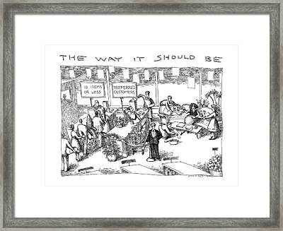 The Way Framed Print by John O'Brien