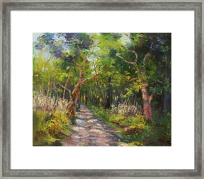 The Way Framed Print by Marie Green
