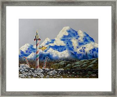 The Way North Framed Print