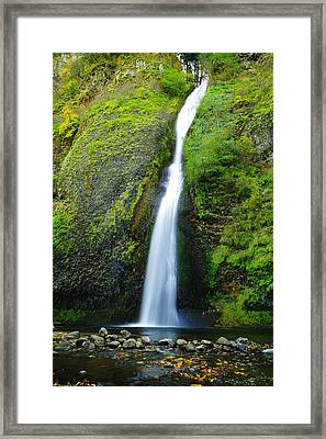 The Way Of A Waterfall Framed Print by Jeff Swan