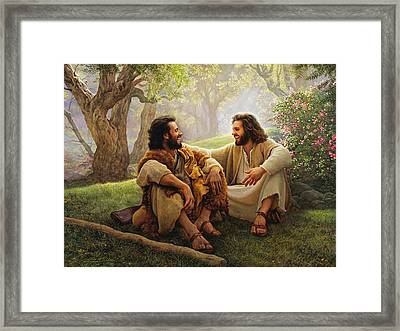 The Way Of Joy Framed Print by Greg Olsen