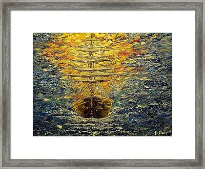 The Way Of Light Framed Print by Svetla Dimitrova