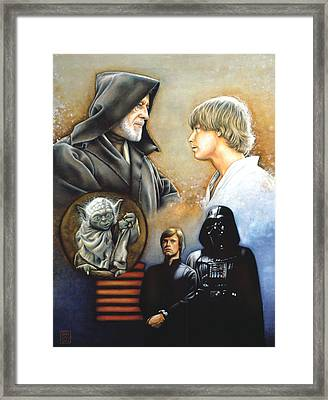 The Way Of The Force Framed Print by Edward Draganski