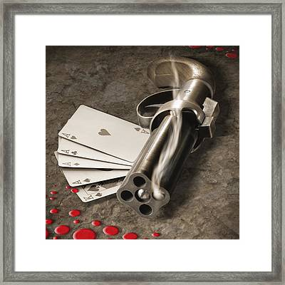 The Way Of The Gun Part 2 Framed Print by Mike McGlothlen