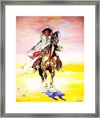 The Way Of The Vaquero Framed Print