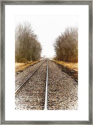 the Way Out Framed Print by Chuck Kugler
