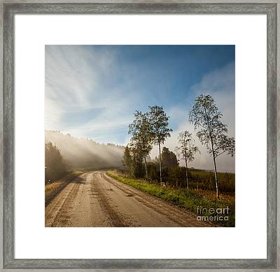 Framed Print featuring the photograph The Way  by Rose-Maries Pictures