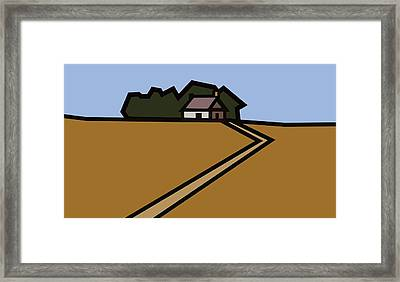 The Way To Sarah's House Framed Print by Kenneth North