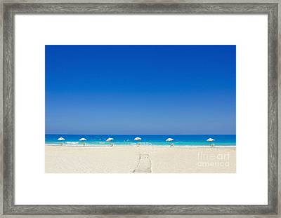 The Way To The Beach Framed Print
