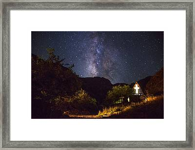 Way To The Chapel Framed Print by Aaron Bedell