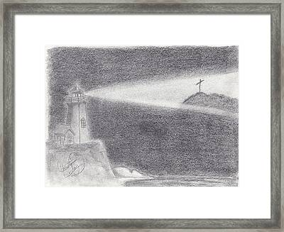 The Way To The Cross Framed Print by Christina Conley