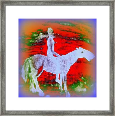You Ride The Way You Ride But Where   Framed Print by Hilde Widerberg