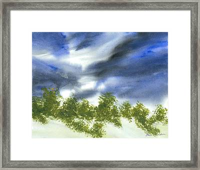 The Weather Of Change Framed Print by Karen  Condron