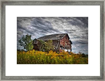 The Weathered Barn Framed Print