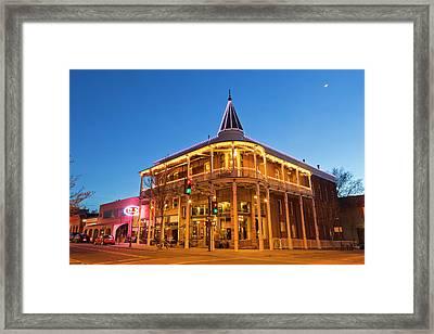 The Weatherford Hotel At Dusk Framed Print