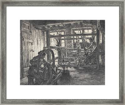 The Weaver And His Wife Framed Print by Leon Augustin Lhermitte