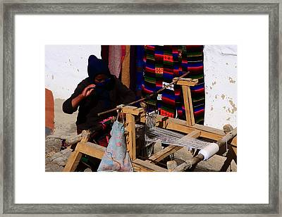 The Weaver - Jomsom - Nepal Framed Print