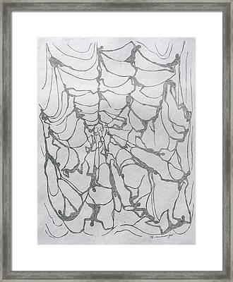 The Web Framed Print by Maria Arango Diener