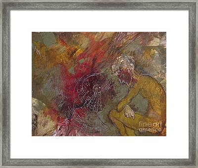 Framed Print featuring the mixed media The Web's Of Mind by Delona Seserman