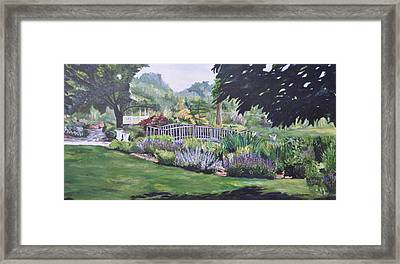 The Wedding Bridge Framed Print by Dottie Branchreeves