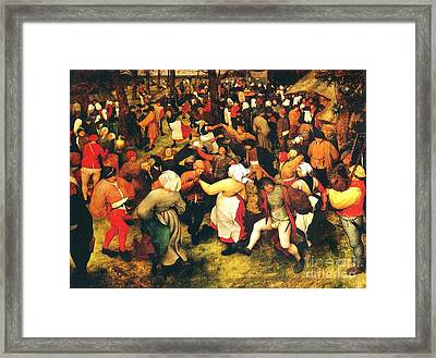 The Wedding Dance In Open Air Framed Print by Pg Reproductions