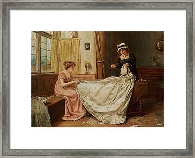 The Wedding Dress Framed Print by George Goodwin Kilburne