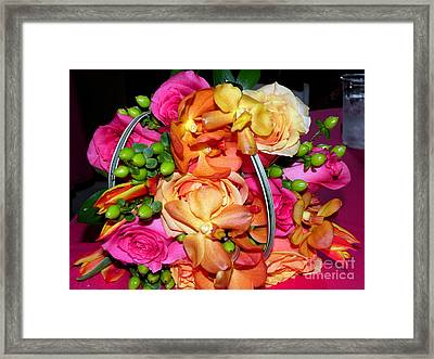 The Wedding Flowers Framed Print by Kathy  White