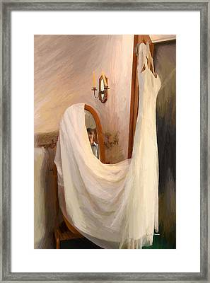 The Wedding Gown Is Ready Framed Print