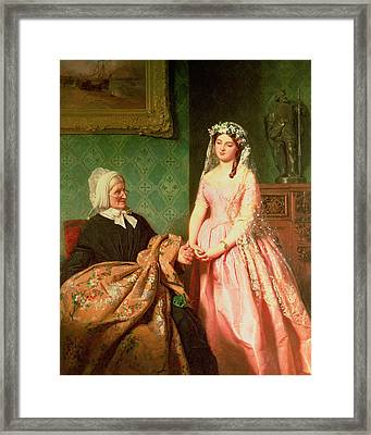 The Wedding Gown Framed Print by John Faed