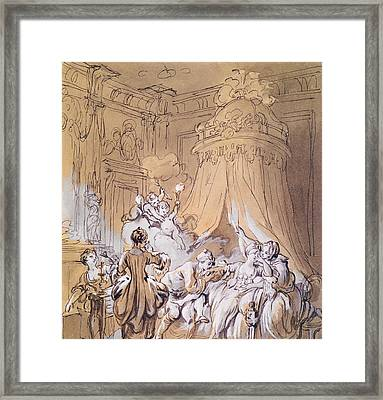The Wedding Night Framed Print by Pierre Antoine Baudouin