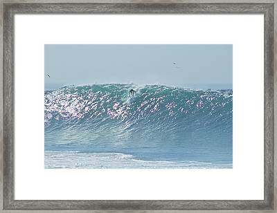The Wedge Newport Beach Framed Print