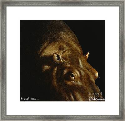 The Weight Watcher... Framed Print by Will Bullas