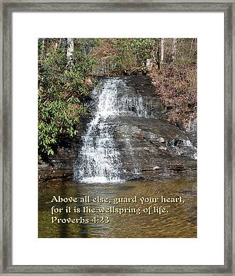 The Wellspring Of Life Framed Print by Camm Kirk