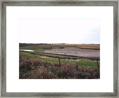 Framed Print featuring the photograph The West Fields by J L Zarek