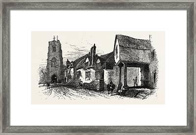 The West Gate, Warwick, Uk, Britain, British Framed Print