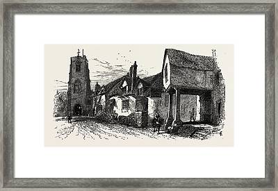 The West Gate, Warwick, Uk Framed Print