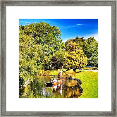 The Western Boundary Of Mona Vale Is Framed Print