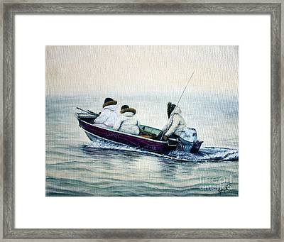 The Whale Hunters Framed Print by Joey Nash