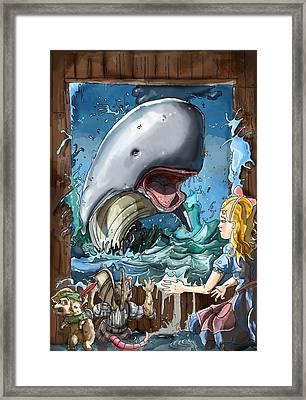 Framed Print featuring the painting The Whale by Reynold Jay