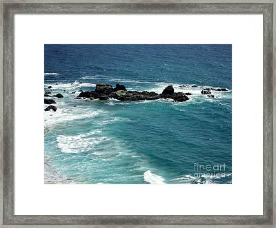 The Whale Rock Framed Print by Carla Carson