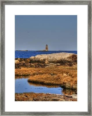 The Whaleback Lighthouse Framed Print