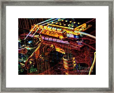 The Whammy Digital Guitar Art By Steven Langston Framed Print by Steven Lebron Langston