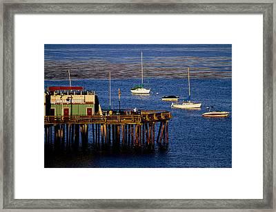 The Wharf Framed Print by Tom Kelly