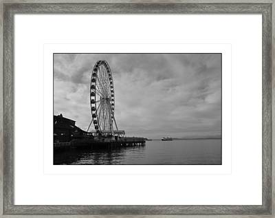 The Wheel And The Ferry Framed Print